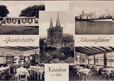 """Alte Postkarte """"Gaststätte Rheinfähre"""""""