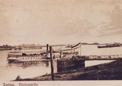 "Alte Postkarte ""Xanten, Rheinpartie"""