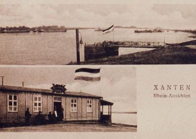 """Alte Postkarte """"Xanten, Rhein-Ansichten"""""""