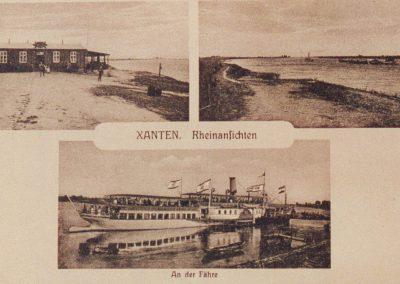 """Alte Postkarte """"Xanten, Rheinansichten"""""""